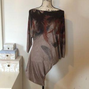 Asymmetrical Mini bodycon dress or long shirt
